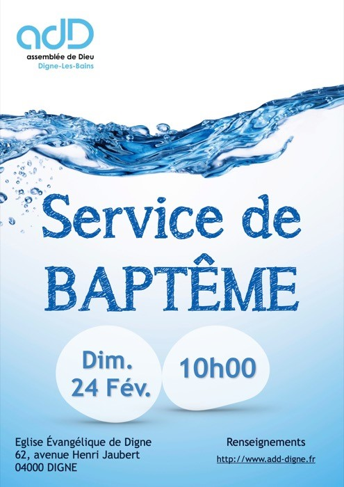 Service de baptême du 24 février 2019